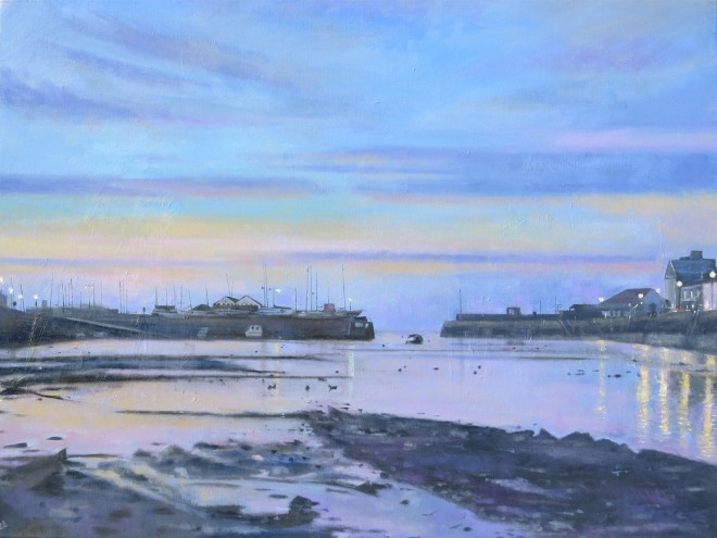 Harbour Lights, Aberaeron 101x77cms