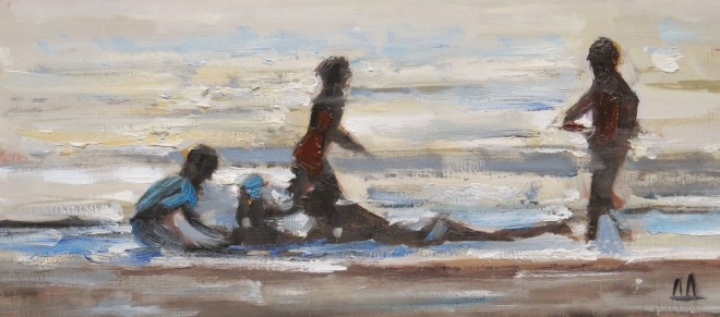 On The Seashore, Llangrannog 26x13cms