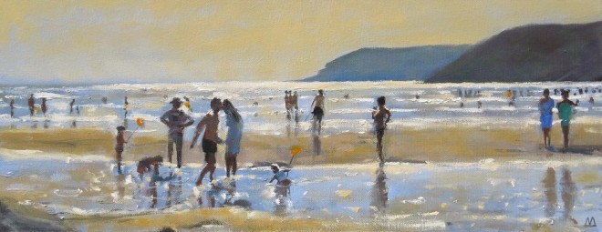Gower Evening 50x20cms
