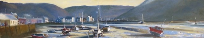 Fishguard Harbour 200x40cms