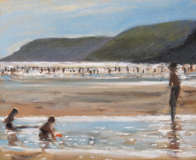 Evening Sands, Gower 29x20cms