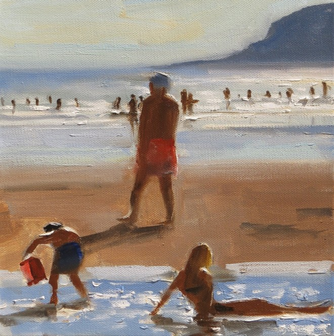 Late Afternoon, Caswell 25x25cms