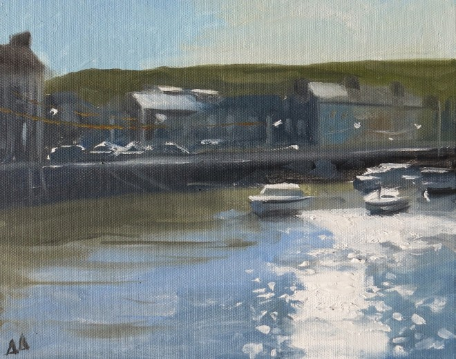 Morning Light, Aberaeron 25x20cms SOLD
