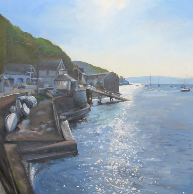 Morning Sparkle Aberdovey 60x60cms