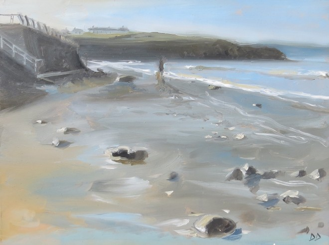 Morning Walk, Broadhaven 23 x 18 cms