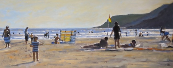 Summer Scene, Gower 92x38cms