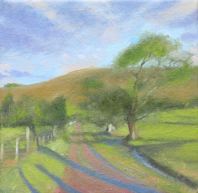 Evening Track, Brecon 15x15cms