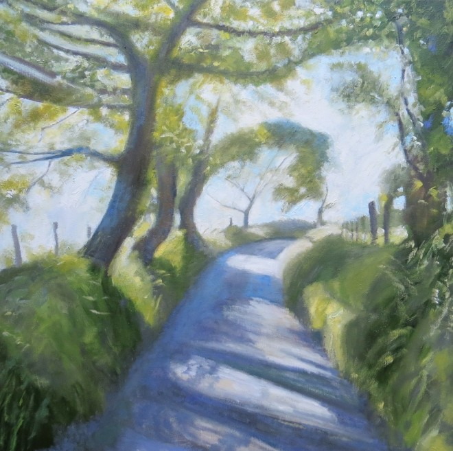 Dappled Lane, Coelbren 60x60cms