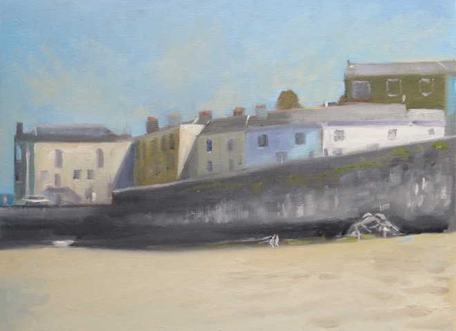 Harbour Beach, Tenby 35x25cms Oil