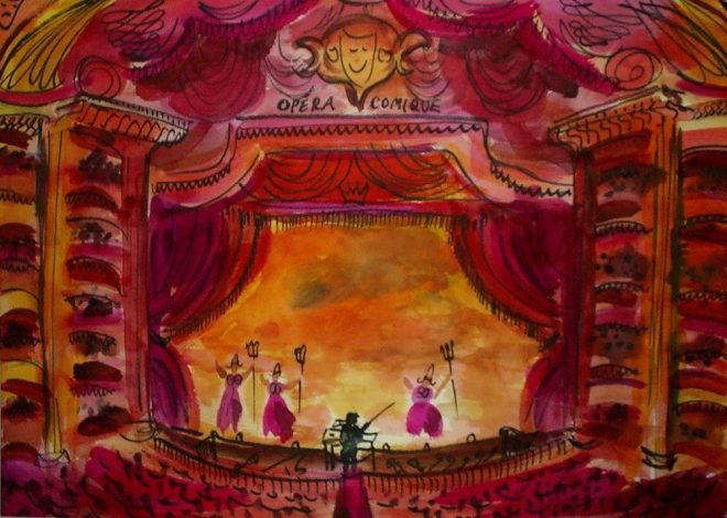 Opera Comique 70x50cms SOLD