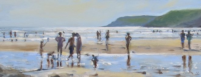Afternoon Light, Gower 50x20cms