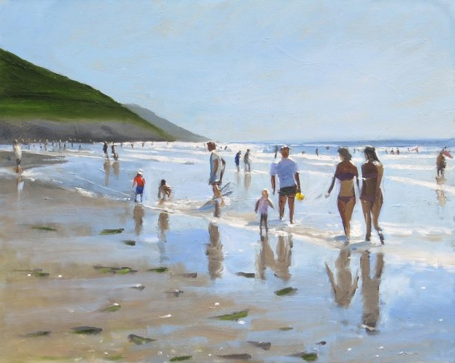 Summer Silhouettes, Gower. Oil on Canvas 66x52cms