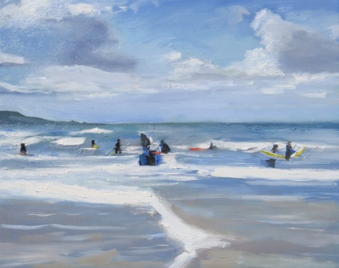 In The Surf, Cardigan Bay 50x40cms