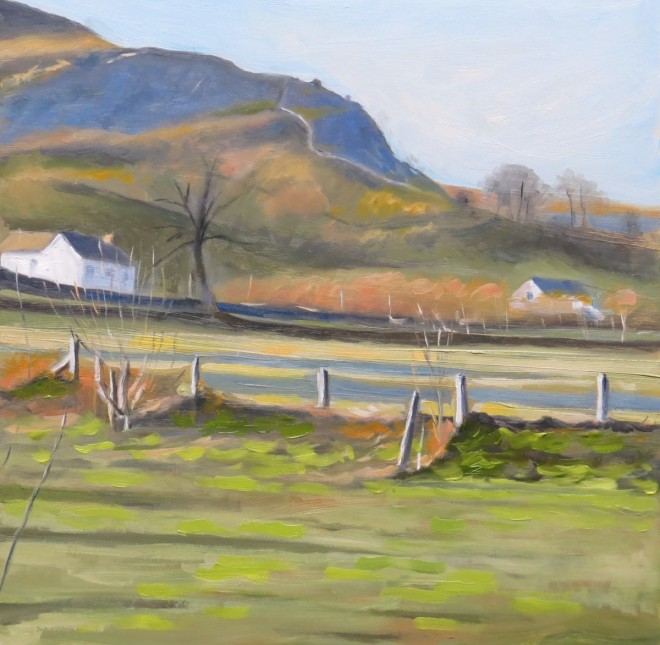 Late Afternoon, Breconshire 26x26cms
