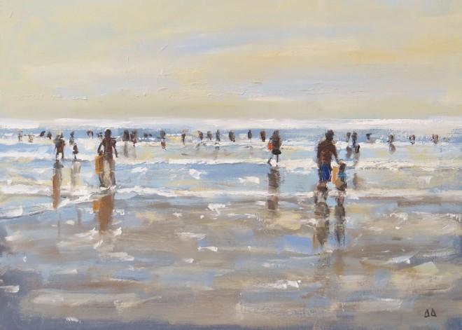 Shore Life, Gower 22x14cms