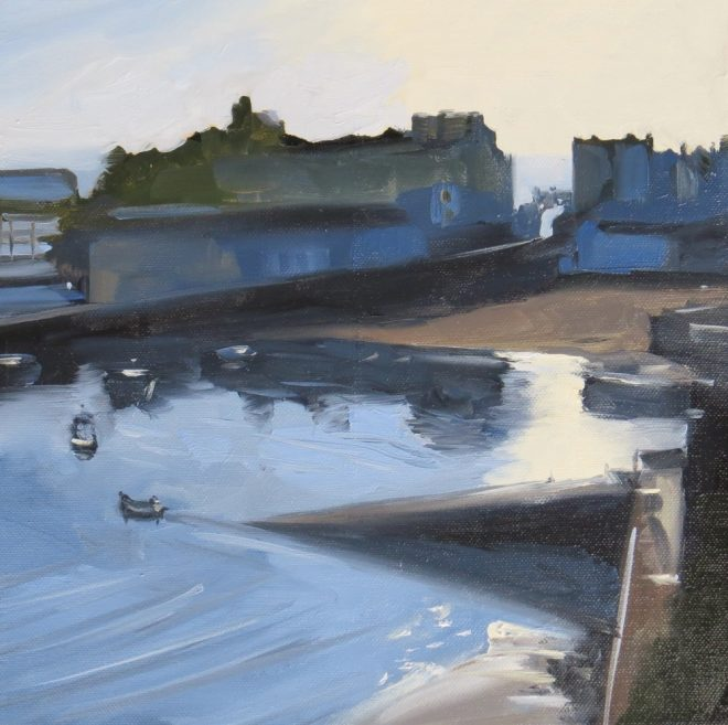 Morning Launch, Tenby 30x30cms